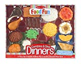 Melissa & Doug  Food Fun Combine & Dine Dinner Set, Red offers