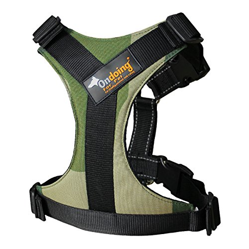 Ondoing Dog No Pull Harness Adjustable and Heavy Duty Saddle Leash Harness For Walking Hiking Traveling, X-Large, Camoflauge