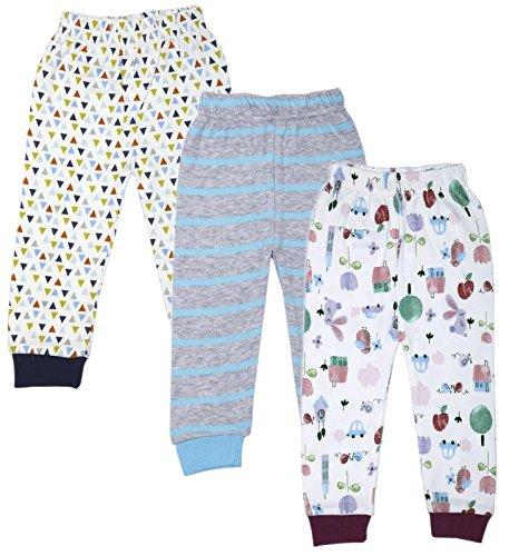 38edc80f8 Jolipo Cotton Baby Pajama Pants Unisex with Rib (Pack of 3)  Amazon ...