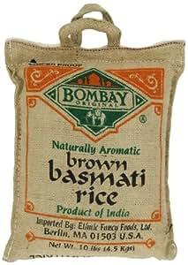 Amazon.com : Bombay Basmati Brown Rice, 10-pounds Sack