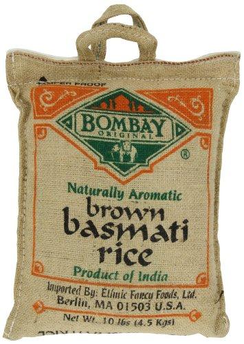 Bombay Basmati Brown Rice, 10-pounds Sack by Bombay Company