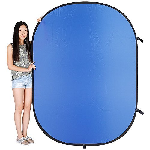 "Amazon Lightning Deal 83% claimed: NEEWER® Photo Collapsible Reversible Two Sides Chromakey Green Blue Background Panel 59""x79""/150cmx200cm"