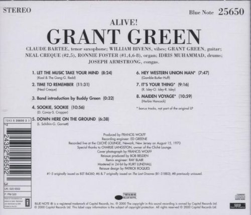 Grant Green Alive! by Blue Note