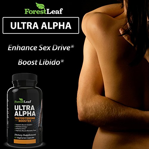 MAX Strength Testosterone Booster Men's Supplement Boosts Muscle Growth & Recovery Enhances Sex Drive, Energy & Stamina 60 Veggie Capsules By ForestLeaf