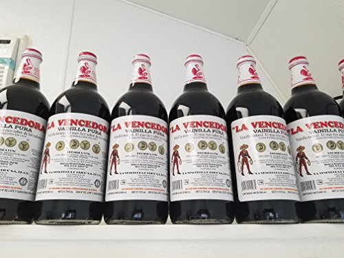 4 X La Vencedora Pure Mexican Vanilla Extract 31oz - 1L Each 4 Glass Bottles Product From Mexico - Pure Fluid