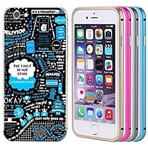 iPhone 6 Plus compatible Graphic/Metallic/Special Design/Novelty Bumper Frame , Blue