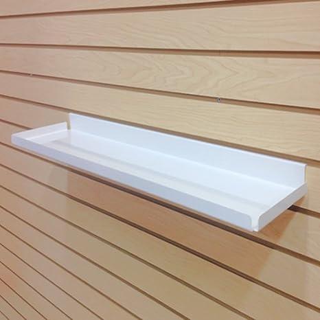 7.5 D x 31.75 W Steel RX Shelf with .5 Lip Metal Slatwall Pharmacy Shelf Ivory 10 Pack