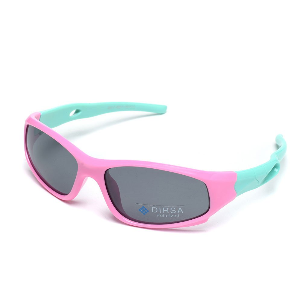 ddbeb70b30 Sports Style Polarized Sunglasses Rubber Flexible Frame UV400 For Boys  Girls (Pink Mint Green