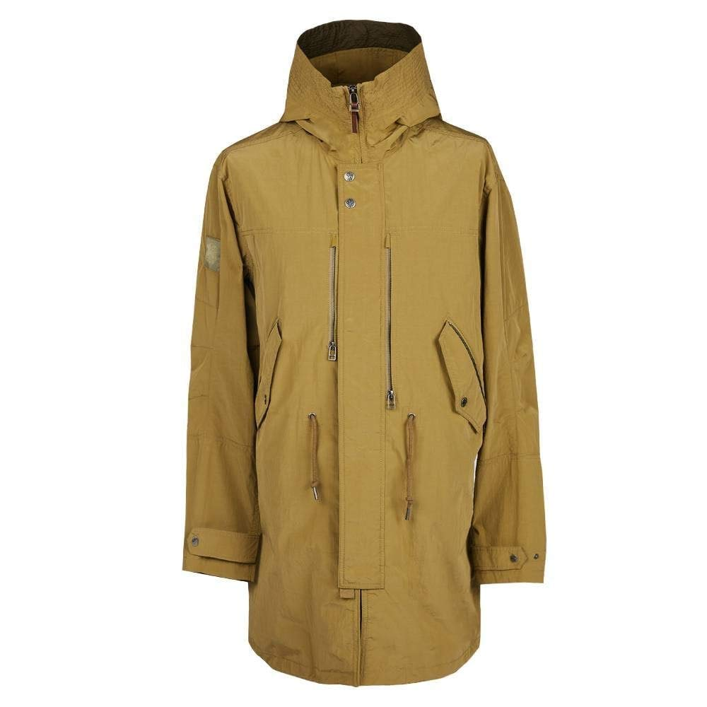 TALLA L. Pretty Green Chaqueta zipthrough Hooded Parka Caqui
