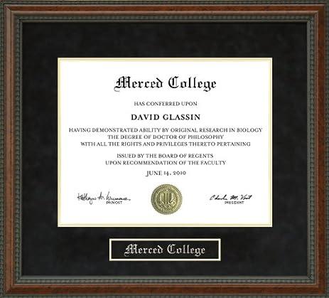 Amazon.com - Merced College Diploma Frame - Burl -