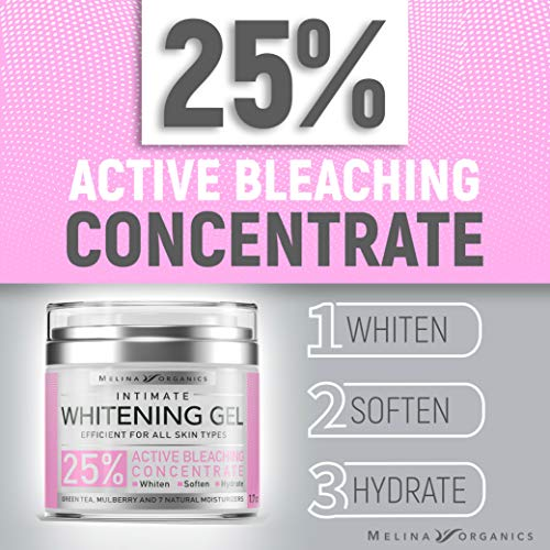 Bleaching Cream for Intimate Areas - Made in USA - Potent Whitening Cream with Arbutin (Glycosylated Hydroquinone), Hyaluronic Acid & Aloe Vera - Dark Spot Remover for Body & Skin Lightener - 1.7 Oz 3