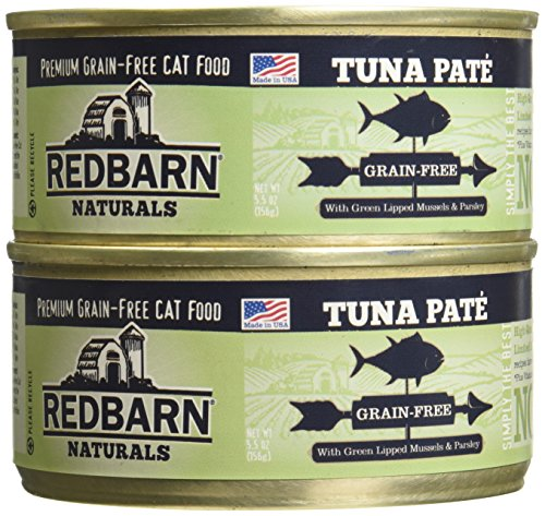 (Case of 24 Cans) RedBarn Naturals Grain-Free Tuna Pate Cat Food – 5.5 Ounces