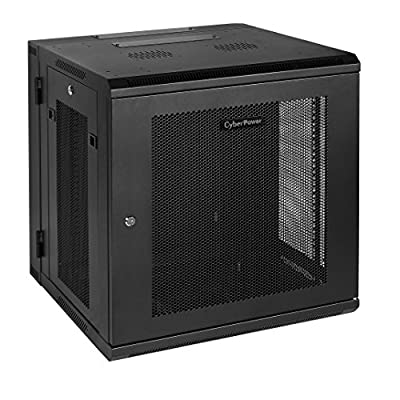 CyberPower 12U Wall Mount Rack Enclosure Cases CR12U51001 black