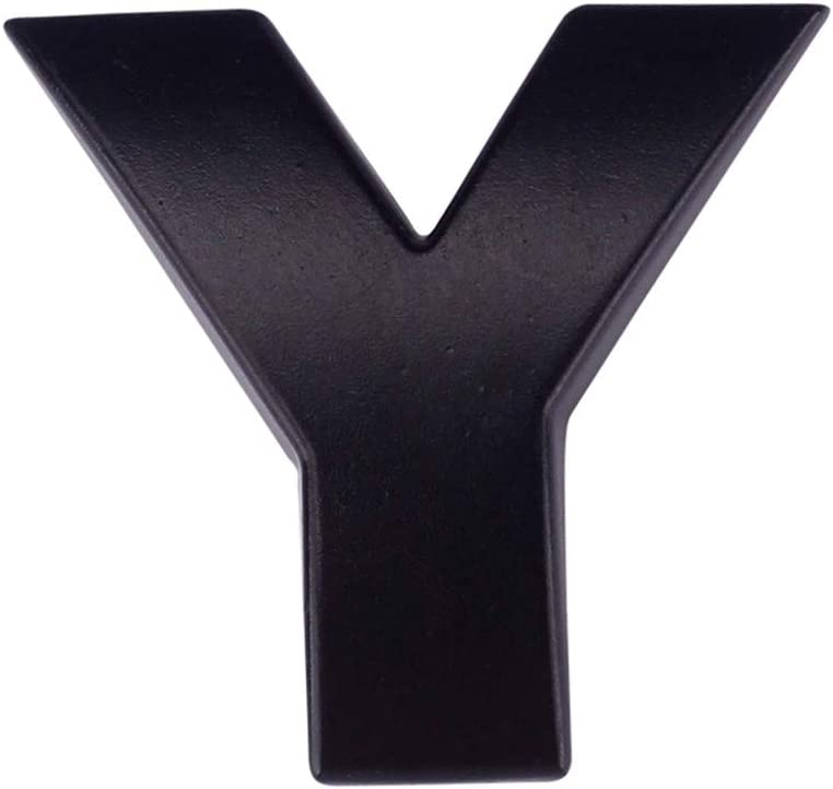argent m/étallis/é erthome a Lettre de l/'alphabet 3D autocollant pour d/écoration d/'int/érieur PVC Size:About 2.5cm*2.2cm*3mm