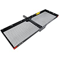Highland 500 lbs. Capacity Tray Style 60 in. Hitch Cargo Carrier with 2 in. Receiver