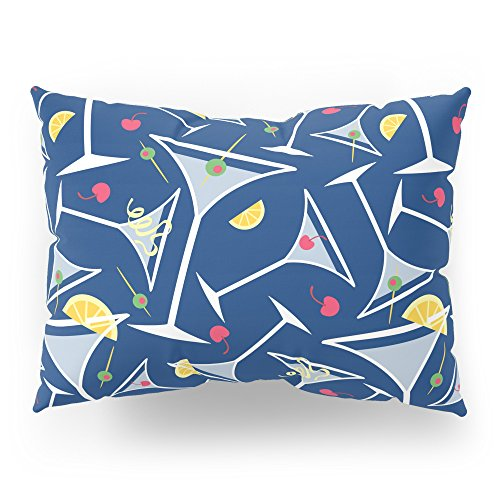 Society6 Blue Martinis Pillow Sham Standard (20