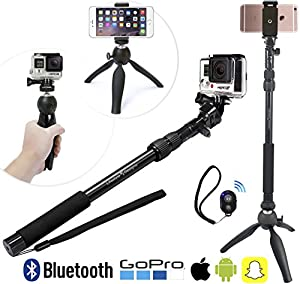 premium hd selfie stick tripod 3 in 1 photo video kit for new iphone 7 gopro. Black Bedroom Furniture Sets. Home Design Ideas