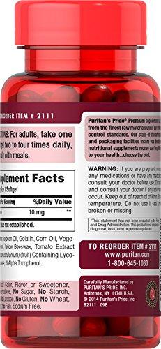 Puritan039s Pride Lycopene 10 mg-100 Softgels Discount