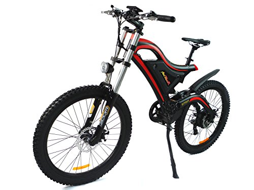 Addmotor HITHOT Electric Bicycle 500W 48V Dual Suspension Mountain Electric Bike 2017 H5 E-bike With 26 Inch Wheel Shimano Gear For Adults