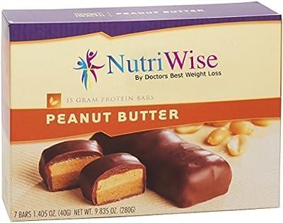 NutriWise - High Protein Diet Bar (7 per box), Gluten Free (Peanut Butter)