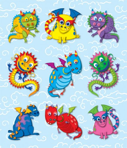 Carson Dellosa Dragons Prize Pack Stickers (168040) (A Color Of His Own Lesson Plan)
