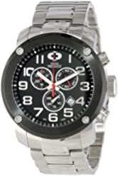 Swiss Precimax Men's SP13012 Marauder Pro Black Dial with Silver Stainless Steel Band Watch