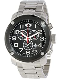 Men's SP13012 Marauder Pro Black Dial with Silver Stainless Steel Band Watch