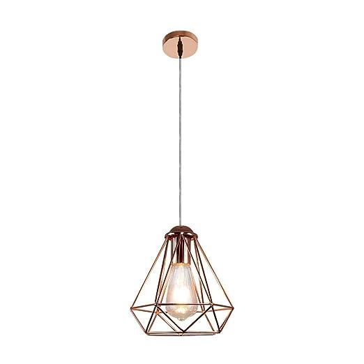 Lámpara colgante de diamantes de diseño industrial, lámpara ...