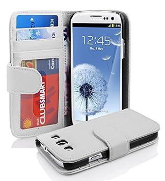 Cadorabo Funda Libro para Samsung Galaxy S3 / S3 NEO en BLANCO MAGNESIO: Amazon.es: Electrónica