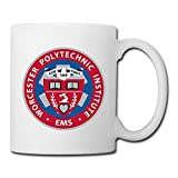 White Worcester Polytechnic Institute Sab04Fl Ceramic Mug Cup 11oz Unisex Printed On Both Sides