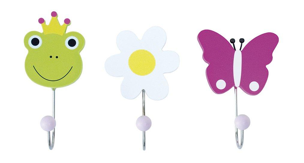 Children's Coat Hooks Frog (Set of 3) JaBaDaBaDo