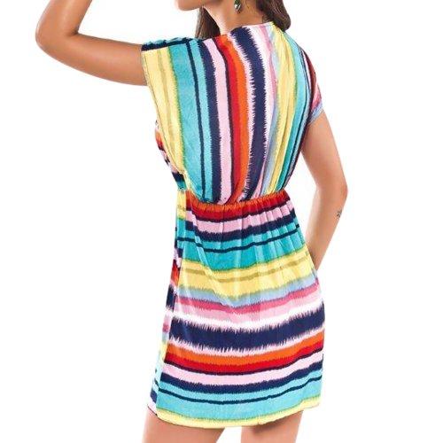 ... New Fashion Rainbow Cover Up Beach Kleid Kaftan Sarong Sommer Dress  Bademode Bikini Cover Damen Frauen b32ed14660