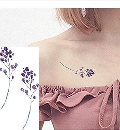 LFVGUIOP Tatuajes temporales -Moda Coloreada Impermeable Etiqueta ...
