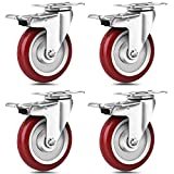 SPACECARE 5 Inches Caster Wheels, Heavy Duty