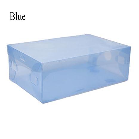 top-sell cajas de almacenaje transparentes para zapatos organizador de contenedor plegable apilable, polipropileno