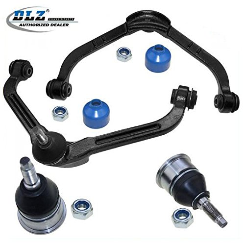 - DLZ 4 Pcs Front Suspension Kit-2 Upper Control Arm Ball Joint Assembly 2 Lower Ball Joints Compatible with Jeep Liberty 2002 2003 2004 K3198 K3199 MK3198 MK3199
