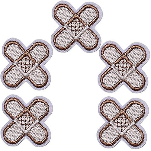 TACVEL Band Aid Embroidered DIY Sew on/Iron on Patches for Kids Clothing, Vest, Jackets, Backpacks, Caps, Jeans to Repair Holes/Logo, Style 2