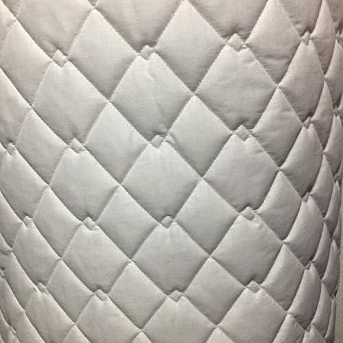 Tela acolchada polialgodón blanco y negro doble diamante chaquetas ...