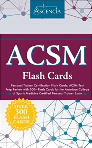 acsm personal trainer certification flash cards: acsm test prep ...