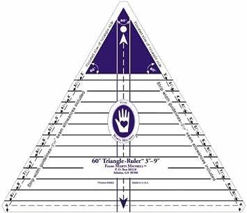 Amazon.com: Marti Michell 3-Inch-to-9-Inch 60 Degree Triangle Ruler : 60 degree triangle quilting ruler - Adamdwight.com