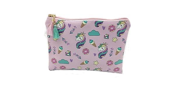 Amazon.com: Unicornio bolsas de cosméticos portátil bolsa de ...