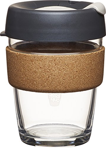 KeepCup Brew Glass Reusable Coffee Cup, 12 oz/Medium, Press (Seekers Glass)