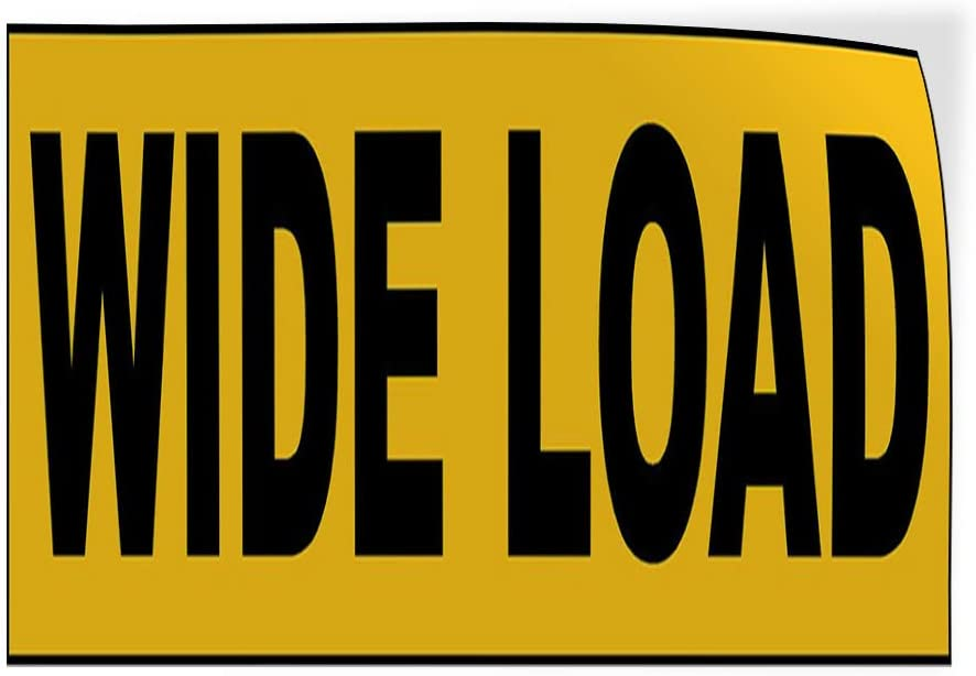 Decal Sticker Multiple Sizes Wide Load Yellow Black2 Business Truck Outdoor Store Sign Yellow Set of 10 14inx10in