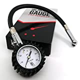 Tire Air Pressure Gauge by RE LAB Inc. 60 psi with 1 Foot Hose