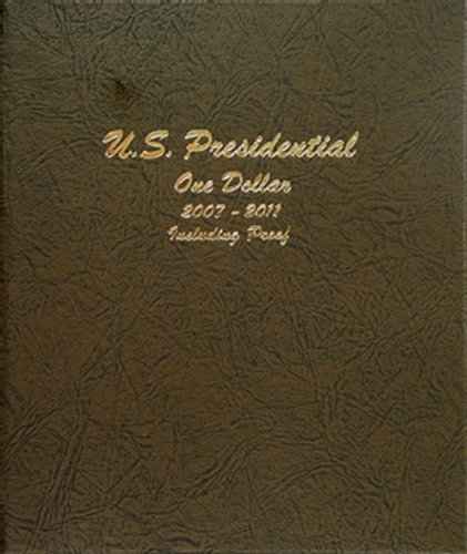 Dansco US Presidential Dollar with Proof Coin Album 2007 – 2011 #8184