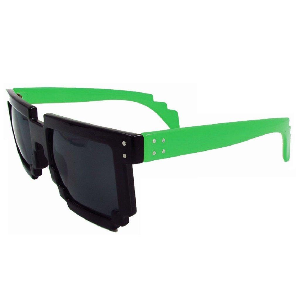 8-Bit Neongelb Geek Invader Pixelbrille