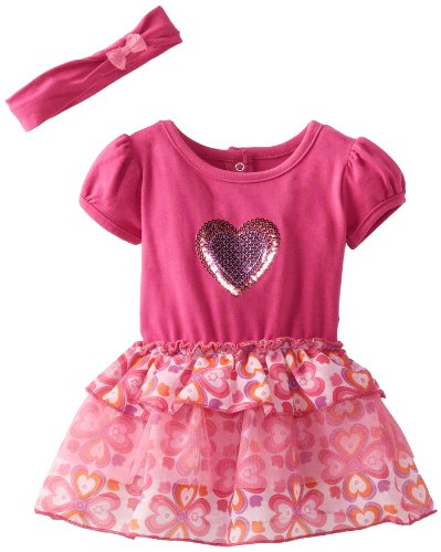 Baby Girl's Hearts Tiered Valentine Dress By Vitamins