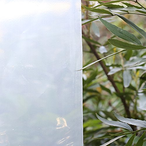 Agfabric 3.9Mil Plastic Covering Clear Polyethylene Greenhouse Film UV Resistant for Grow Tunnel and Garden Hoop, Plant Cover&Frost Blanket for Season Extension, 6.5x32ft by Agfabric (Image #1)