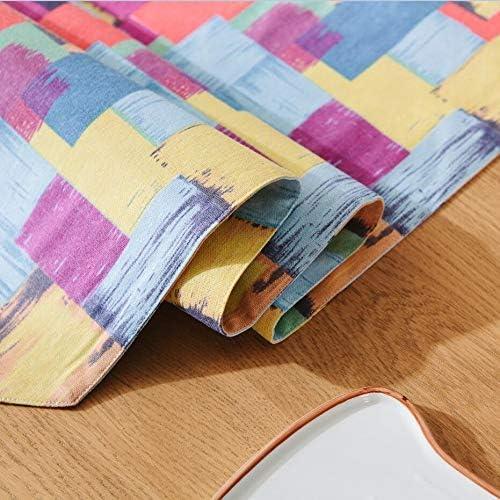 JUNYZZQ Fashion Cloth Table Flag Dining Flag Modern Minimalist Black Blue Coffee Table Bed Tail European Luxury Cloth,32X180Cm