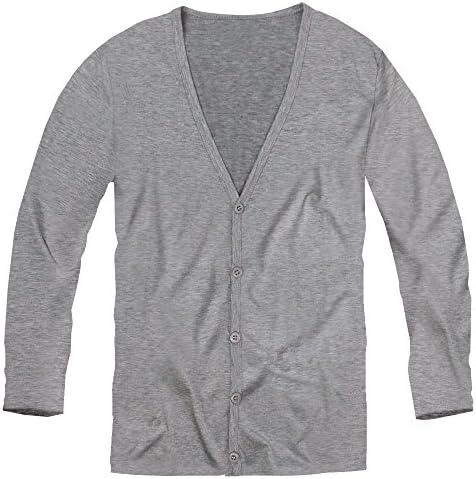 カーディガン メンズ 無地 カーディガン シンプル ニット長袖 グレー 灰色 f284 f284-m-men